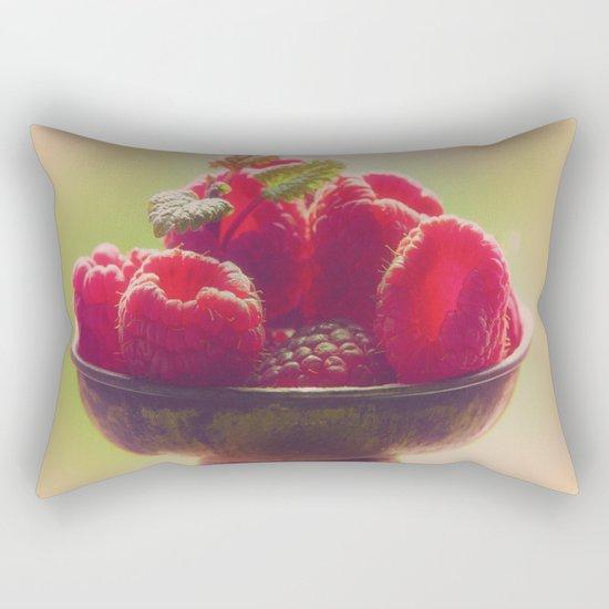 Raspberries fruit enjoyment Rectangular Pillow