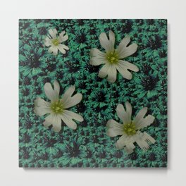 Calm in the flower forest of tranquility ornate Metal Print