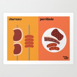 Churrasco x Parrillada Art Print