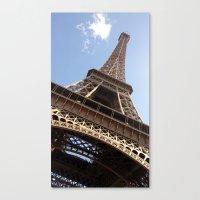 eiffel tower Canvas Prints featuring Eiffel Tower by caroline