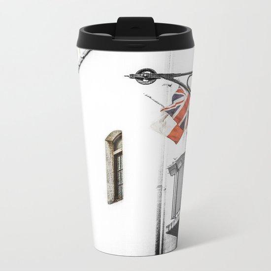Union Jack/Flag Metal Travel Mug