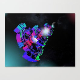 Space Floater Canvas Print