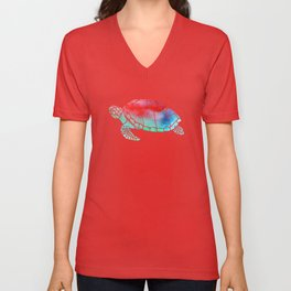 Watercolor Turtle Unisex V-Neck