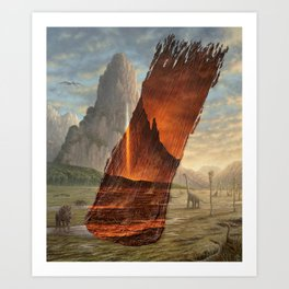 Impact - Brushstrokes in Time Art Print
