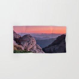 Misty Mountains At Sunset. Sierra Nevada Hand & Bath Towel