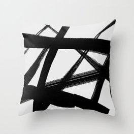 A Shadow Beam - Abstract Paint Throw Pillow