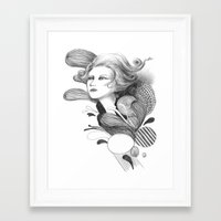 beethoven Framed Art Prints featuring Beethoven by Wendy Ding: Illustration
