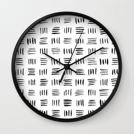 Lines on Lines // Black Wall Clock