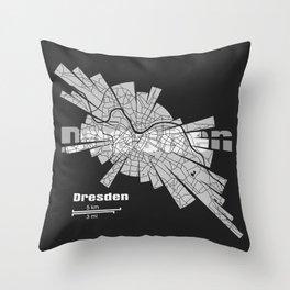 Dresden Map Throw Pillow