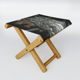 Night Vision // Owl Moon Forest Night Trees Wings Feather Screech Animal Bird Wild Wilderness Folding Stool