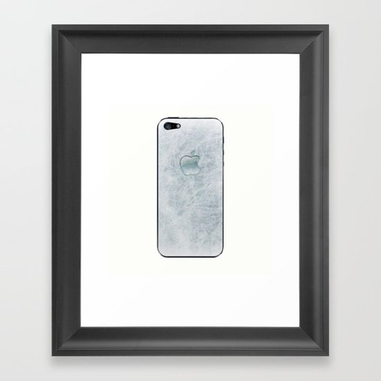 FROZEN APPLE Framed Art Print