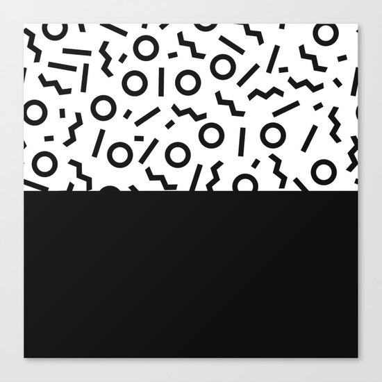 Memphis pattern 42 Canvas Print
