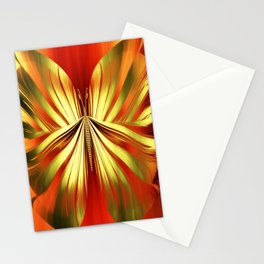 Butterfly gold Stationery Cards