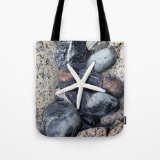Starfish and pebble on beach Tote Bag