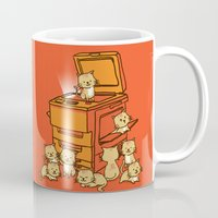 furry Mugs featuring The Original Copycat by Picomodi