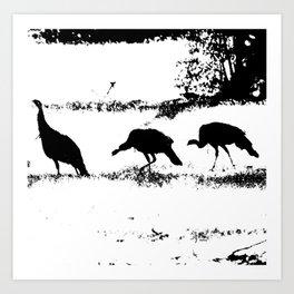 Turkey Silhouette Art Print