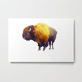 Buffalo Abstract #2 Metal Print