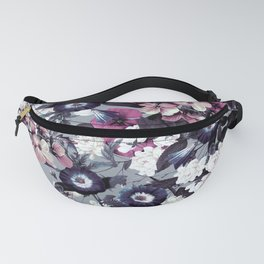 Forest Night Garden Gray Fanny Pack