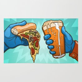Pizza And Craft Beer Rug