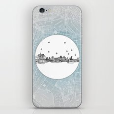 Brooklyn, New York City Skyline Illustration Drawing iPhone Skin