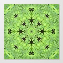 Fern frond fantasy kaleidoscope Canvas Print