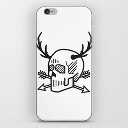 Crusty Hunts / death skull iPhone Skin