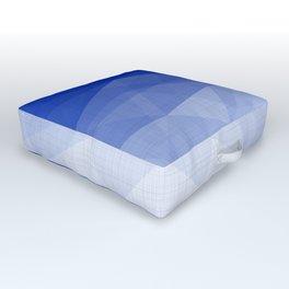 Imperial Lapis Lazuli - Triangles Minimalism Geometry Outdoor Floor Cushion