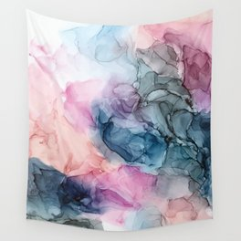 Heavenly Pastels: Original Abstract Ink Painting Wall Tapestry