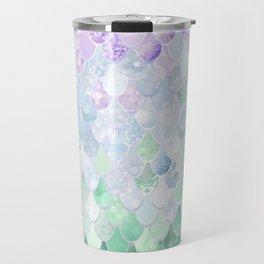 Mermaid Pattern, Lavender, Purple, Mint, Green Travel Mug