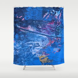 Eros: a beautiful, vibrant abstract painting by Alyssa Hamilton Art Shower Curtain