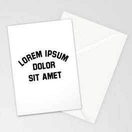Lorem Ipsum Dolor Sit Amet - Funny Graphic Designer Gift Stationery Cards