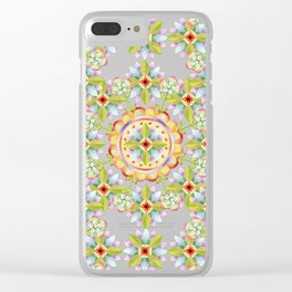 Starflower Blossoms Clear iPhone Case