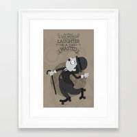 chaplin Framed Art Prints featuring Chaplin by GARABATOS