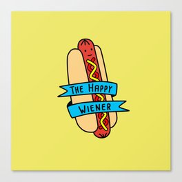 The Happy Wiener Canvas Print