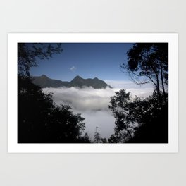 Mountain clouds Art Print