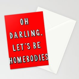 Netflix and Chill Homebodies Couch Potato Stationery Cards
