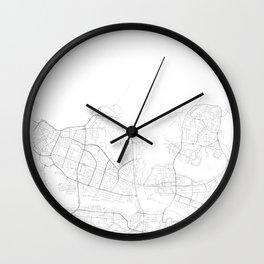 Reykjavik, Iceland Minimalist Map Wall Clock