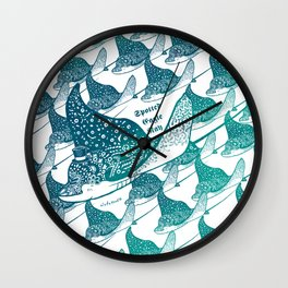 Spotted Eagle Ray II Wall Clock