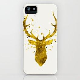Gold Deer iPhone Case