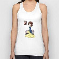 beauty and the beast Tank Tops featuring Beauty and the Beast by Little Moon Dance