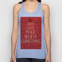 Conceptual christmas tree from words Unisex Tank Top
