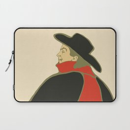 Bruant in his cabaret retro vintage Laptop Sleeve