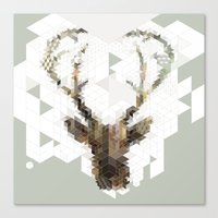 architect Canvas Prints featuring Deer Architect by Angelo Cerantola