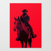 django Canvas Prints featuring Django by MattGoughDesign