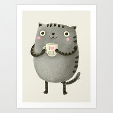 I♥kill (brown) Art Print