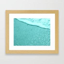 Sparkling Aqua Beach Framed Art Print