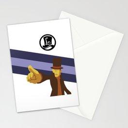 Professor Layton Pointing! Stationery Cards
