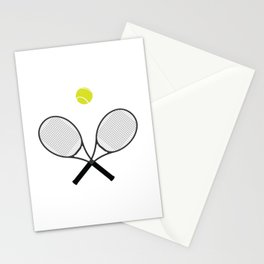 Tennis Racket And Ball 2 Stationery Cards