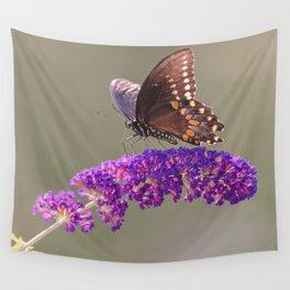 Papillon Sur Fleur Wall Tapestry