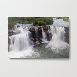 Lundbreck Falls Crowsnest River Alberta Metal Print